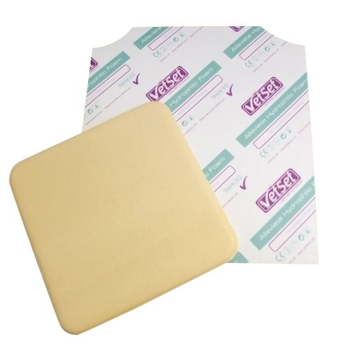VetSet - Alleviate - Foam Dressing- 10cmx10cm x 10pack